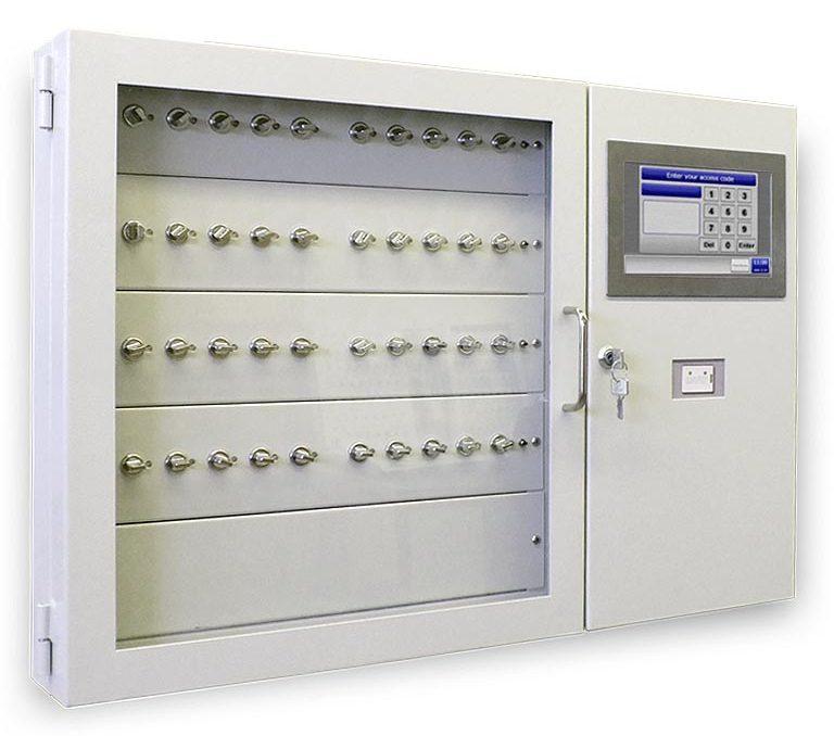 Elektronisk håndtering, administration og opbevaring af nøgler og værdigenstande i kabinetter, bokse, skabe, lockers - Key Kabinet, Key Tracking